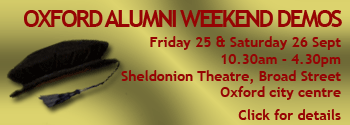 Click for details about the Oxford Alumni Weekend demos